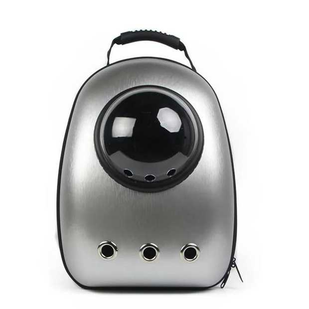 Astropet Space Capsule Pet Travel Backpack for Cats & Dogs up to 5kg - Silver