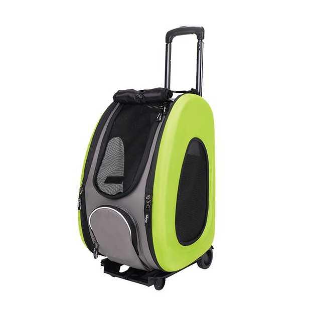 Ibiyaya EVA Pet Carrier/Wheeled Carrier - Apple Green