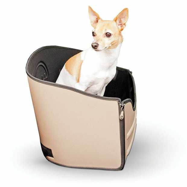K&H Mod Safety Pet Car Booster Seat for Small to Medium Dogs up to 13kg