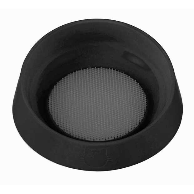 Oh Bowl Slow Bowl and Tongue Cleaning Mat for Cats - Black