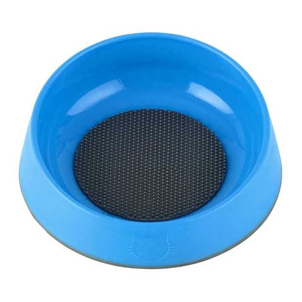 Oh Bowl Slow Bowl and Tongue Cleaning Mat for Cats - Cyan