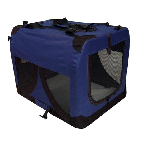 Extra Large Portable Soft Pet Dog Crate Cage Kennel in Blue [Size: Large]