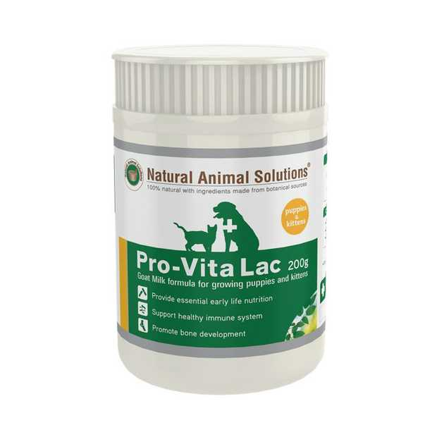 Natural Animal Solutions Pro-Vita Lac Supplements for Puppies & Kittens 200g