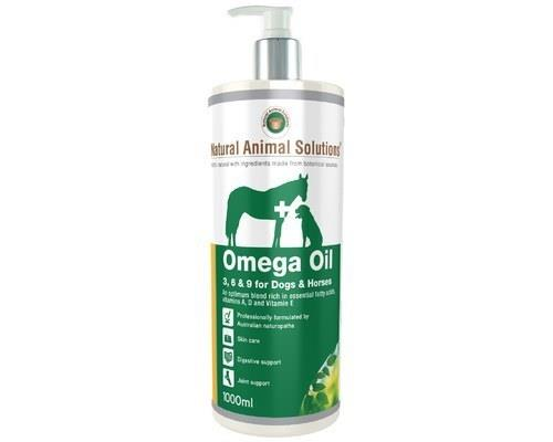 Natural Animal Solutions Omega 3,6 & 9 for Dogs/Horses 1000ml