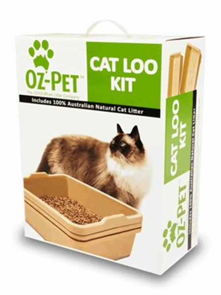 Oz Pet Cat Litter System - Sifter Set with Bonus Litter & Scoop - Charcoal