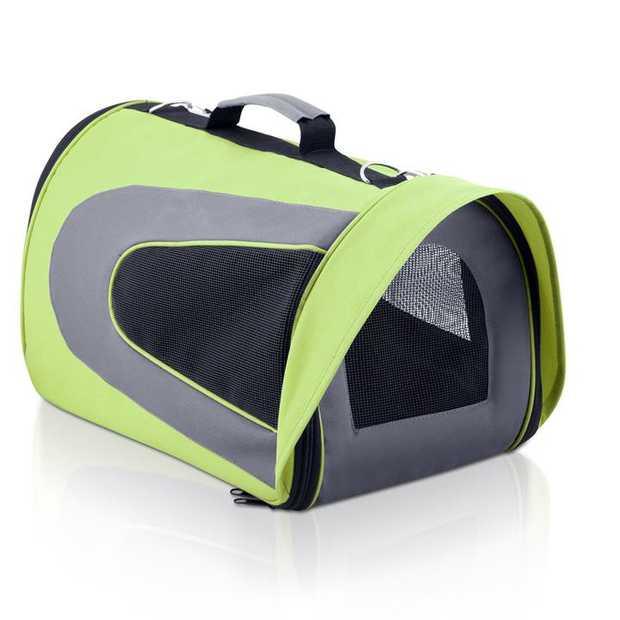 Pet Carrier & Travel Bag - Lime Green [Size: Large]