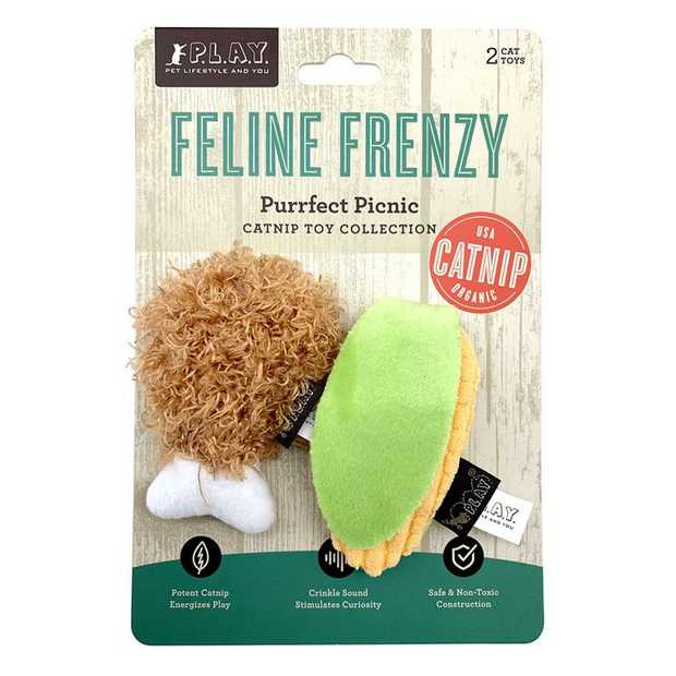 PLAY Feline Frenzy Purrfect Picnic Catnip Cat Toys - 2-Pack