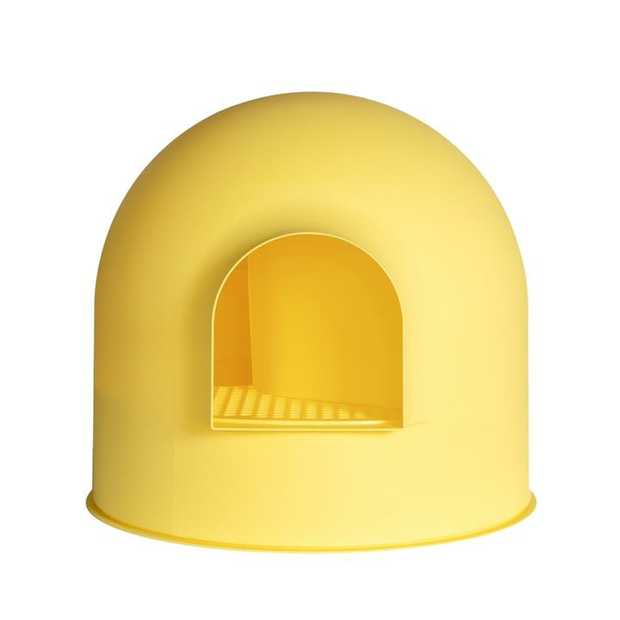 Pidan Igloo Covered Cat Litter Tray - Stops Tracking - Yellow