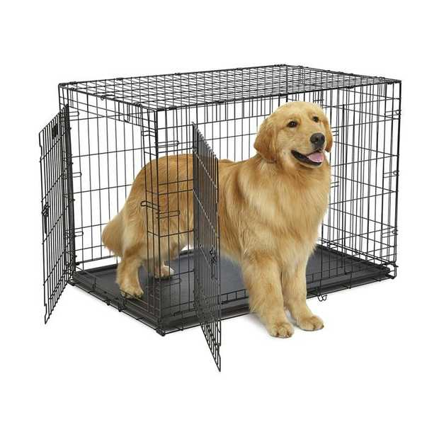 Midwest Contour Double Door Dog Crate with Divider [Size: 48 - 848DD]