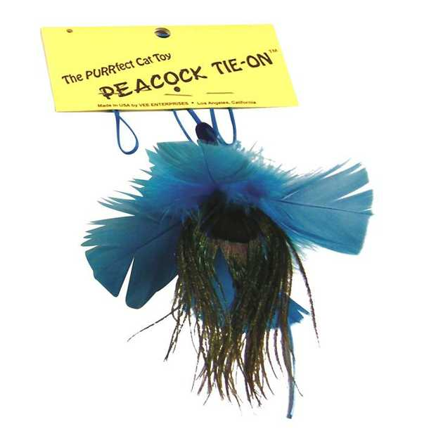PURRfect Replacement Peacock Feather Tie-On Attachment Cat Toy