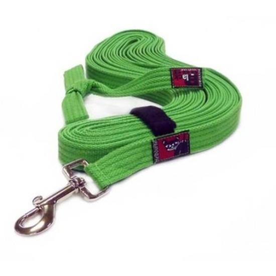 Black Dog Tracking Lead for Recall Training - 11 meters - Small Width - Green