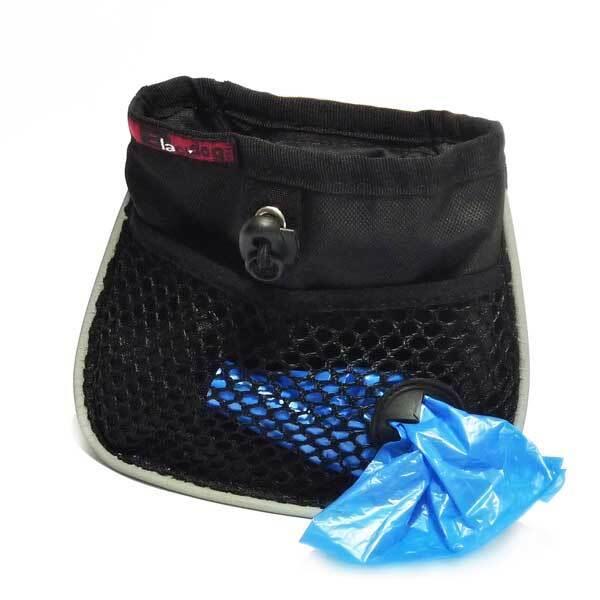 Black Dog Mini Treat & Training Tote Bag with Drawstring & Belt Clip