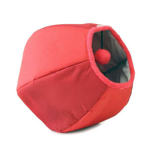 United Pets Cat Cave and Bed - New Design & Colours - Red