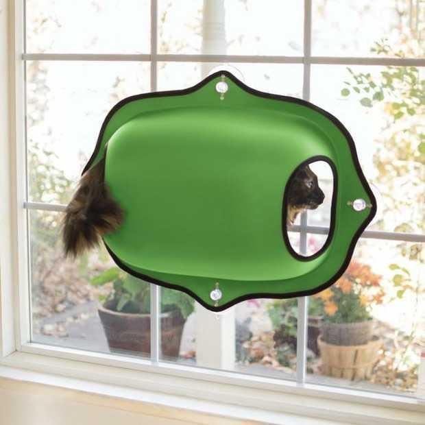 K&H EZ Mount Window Pod & Cat Perch - Green