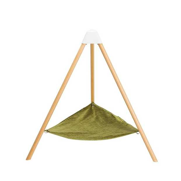 Pidan Beech-wood & Velour Hammock for Cats & Small Dogs up to 10kg - Medium