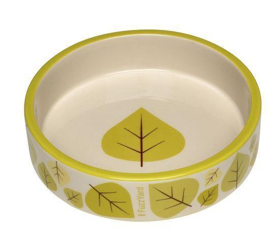 Fuzzyard Fallin Ceramic Cat Dish