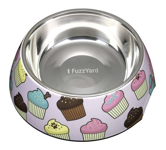 Fuzzyard Melamine & Stainless Steel Dog Bowl - cupcakes [Size: Small]