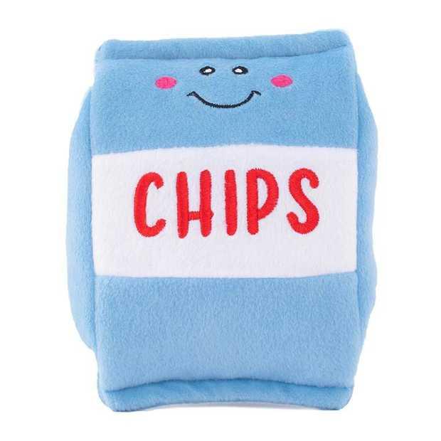 Zippy Paws NomNomz Plush Squeaker Dog Toys - Chips