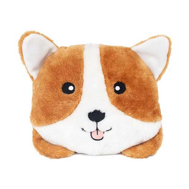 Zippy Paws Plush Squeaker Dog Toys - Paws Corgi Bun