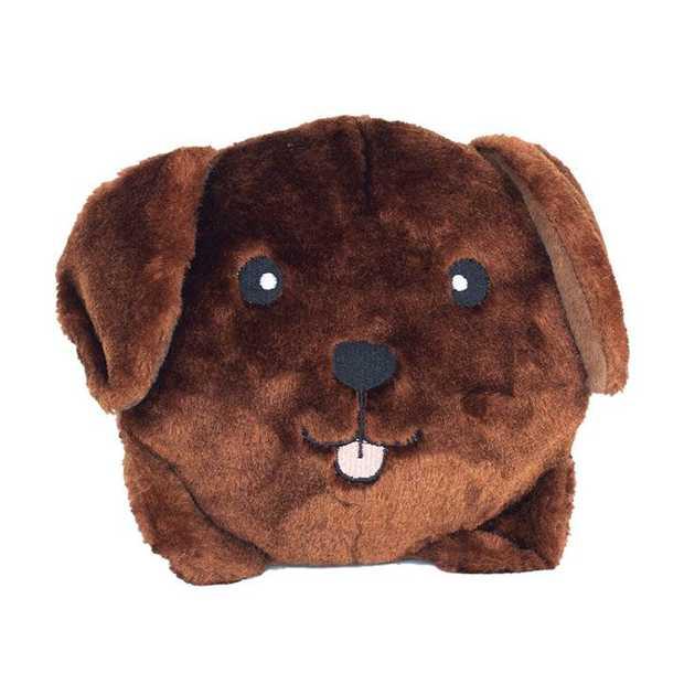 Zippy Paws Plush Squeaker Dog Toys - Chocolate Lab