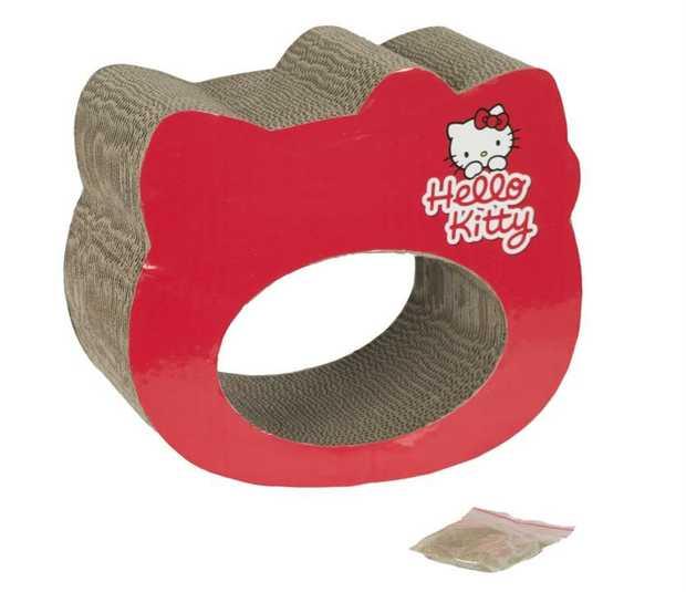 Hello Kitty Scratchtastic Red Cardboard Cat Scratcher with Catnip