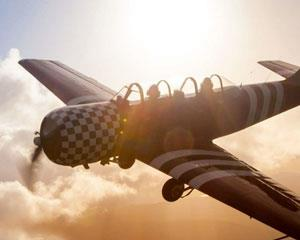 Feel what life is like as a Fighter Pilot, as the massive 360hp radial engine thunders across the skies...