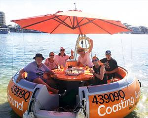 Enjoy your own private piece of paradise in a luxury round boat! Relax with up to 10 friends in your...