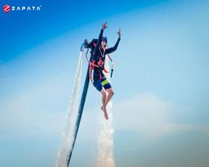 Experience the feeling of flying through the air with a jetpack!