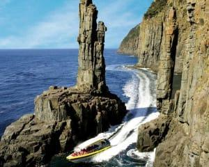 You will enter deep sea caves, pass through the narrow gap between the coast and The Monument and...