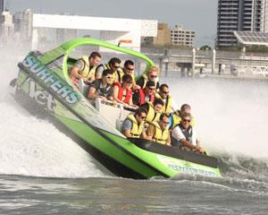 Experience the Gold Coast at high speed with a jet boat ride. Travelling at speeds of up to 80 km/h you...