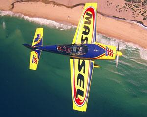 You can experience the adrenalin rush of unlimited aerobatics in the Red Bull EXTRA stunt plane. This...