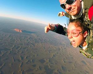 Skydiving is number one on many bucket lists and a visit to Uluru (Ayers Rock) is another box many...