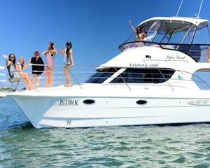 Board our spacious, modern luxury flybridge cruising catamaran for a relaxing sightseeing cruise of...