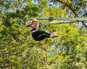 The World's longest and craziest roller coaster zip lines are flying fast and furious on NSW's Central...