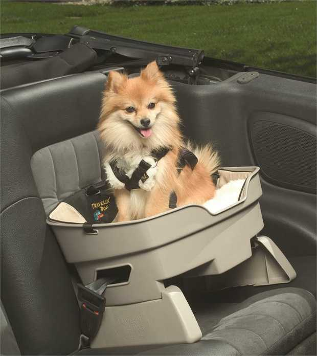 Travelin' Dog Car Booster Seat - On Seat Solid Plastic Dog Seat