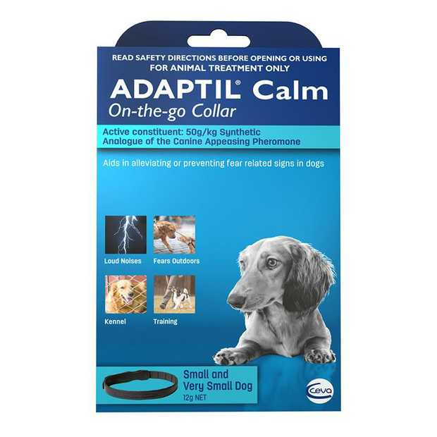 Adaptil Calming Pheromones for Anxious Dogs - Collar for Dogs & Puppies - Small