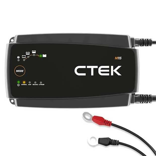 The CTEK M15 charges a wide range of marine batteries quickly and effectively. The rugged...