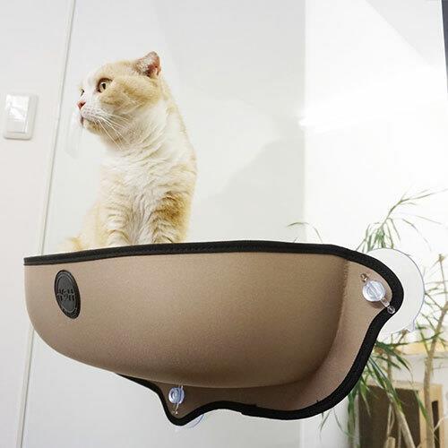 K&H EZ Mount Mod Cat Perch Window Bed - Tan