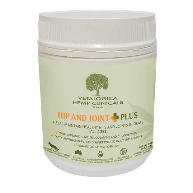 Vetalogica Hemp Clinicals Hip & Joint Plus Dog Supplement 300g