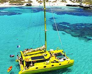 Sail to stunning bays brimming with local marine life on this 3.5-hour eco cruise around Rottnest...
