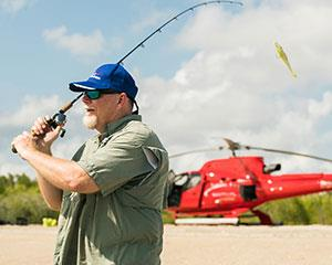 Take to the skies for a fishing adventure like no other. Departing Townsville, locate hidden lagoons...