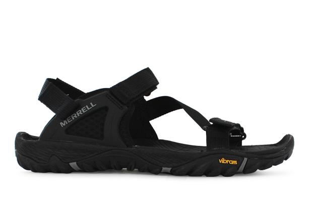 The Mens Merrell All Out Blaze Web is a casual sandal featuring adjustable straps suitable for most...