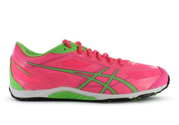 The Asics Kids Gel-Firestorm 2 Fast Pink/Field White racing shoes are fit for those who require a...