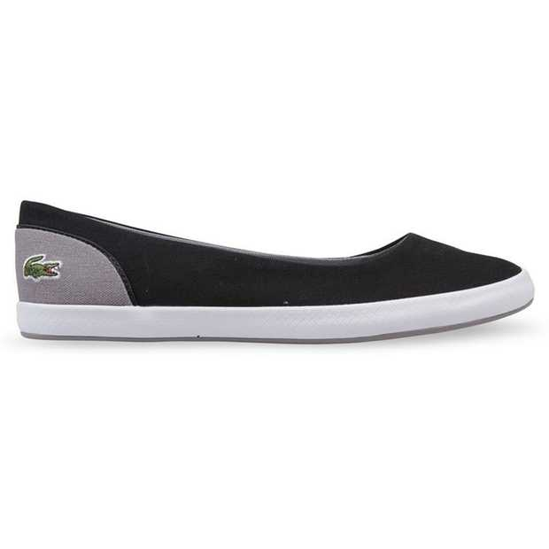The women's Lancelle Ballerina from Lacoste delivers a classic casual slip-on with a clean, canvas...