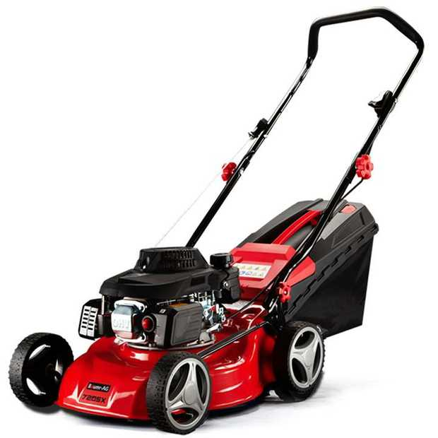 The Baumr-AG 720SX lawn mower boasts an effortlessly powerful 139cc air-cooled, 4-stroke OHV engine...