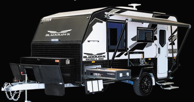 CLEVELAND SHOW SPECIAL   BLACKHAWK - 480 SIERRA HARD TOP -    TITAN CARAVANS   Built Tough - For...