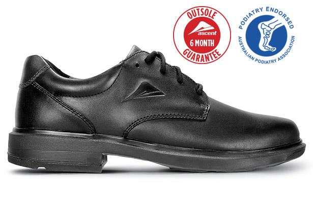 The Ascent Mens Apex Max 3 (E) Black is a traditional & highly durable black leather school shoe or...