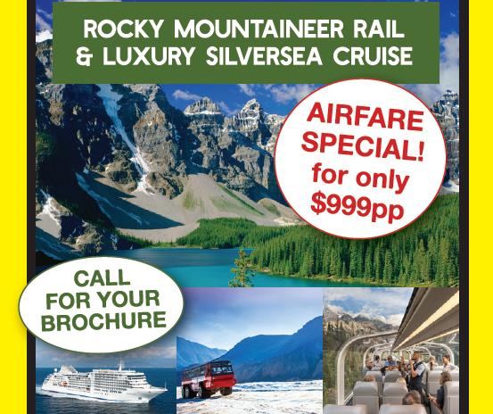 CANADA & ALASKA Luxurious Breathtaking Encounters 19 DAYS - 9 AUG 2020   ROCKY MOUNTAINEER RAIL...