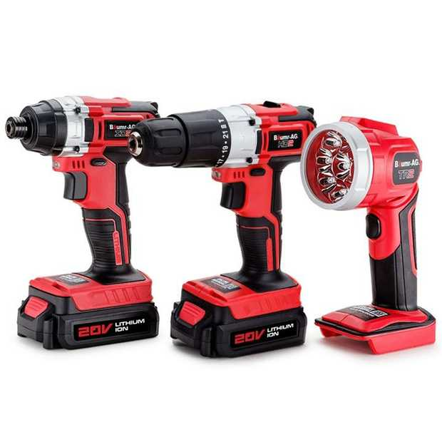 Baumr-AG continues to deliver innovative power tools with the NEW Alpha 200 TB2 3pc Lithium Drill Kit.