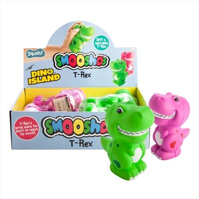 Soft and adorable T-Rex That great Smoosho's feel and texture Assorted colours